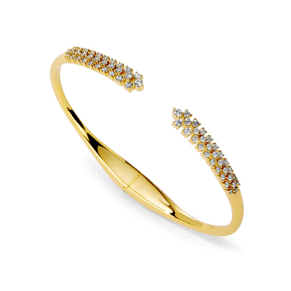 MILA BOTTOM HINGED BRACELET