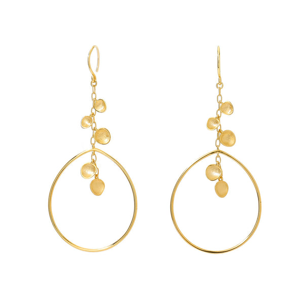 SIRENA FRONTAL HOOP WIRE EARRINGS
