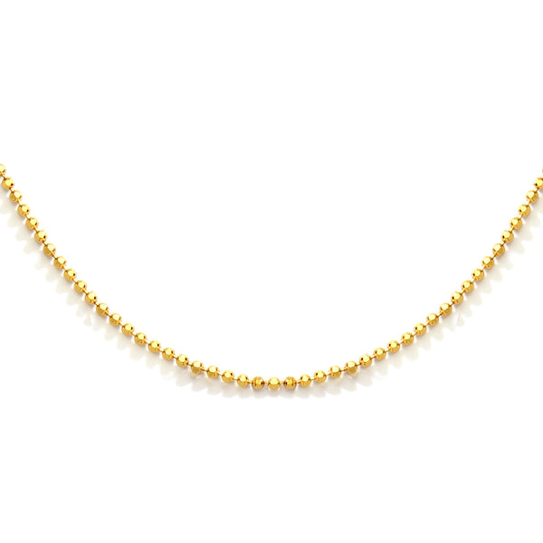 "1.2mm 20"" nadri gold plated sterling silver bead chain necklace"