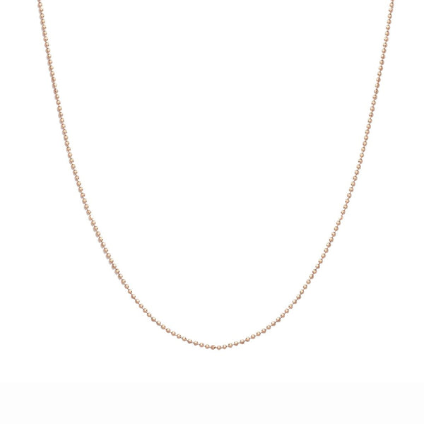 "nadri 1.2mm 16"" rose gold plated sterling silver bead chain necklace"