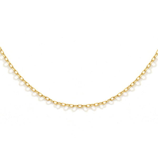 "nadri 1.3mm 20"" flat cable chain 18k gold plated sterling silver necklace"