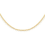 "nadri 1.3mm 30"" flat cable chain 18k gold plated sterling silver necklace"