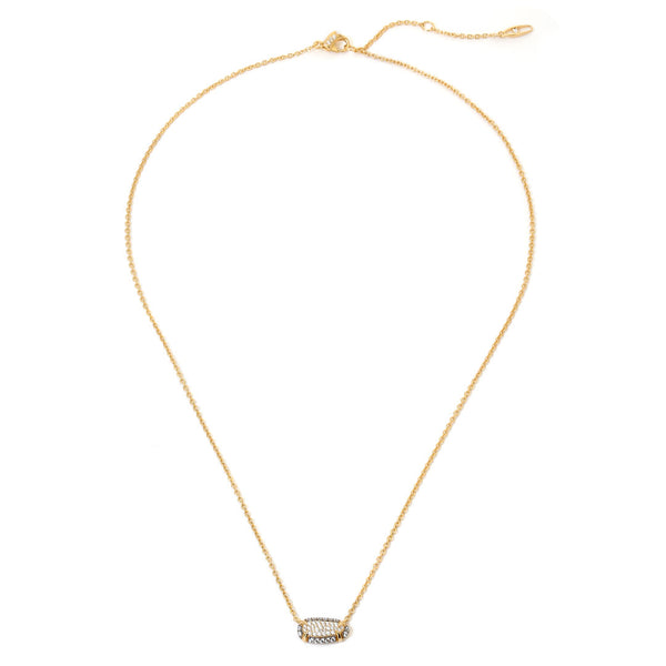 COMO PAVE CZ SMALL PENDANT NECKLACE