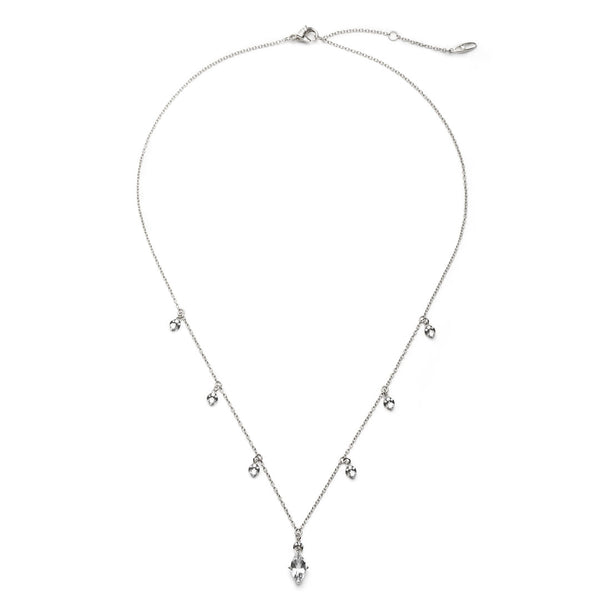 COMO WHITE TOPAZ AND PAVE DISC NECKLACE