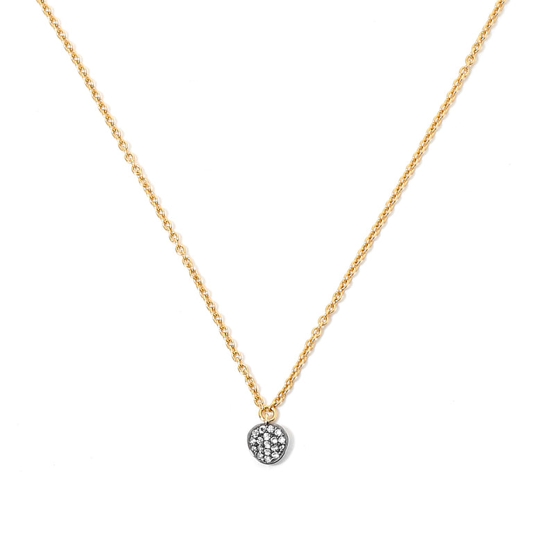 SIRENA PAVE DISC SMALL NECKLACE