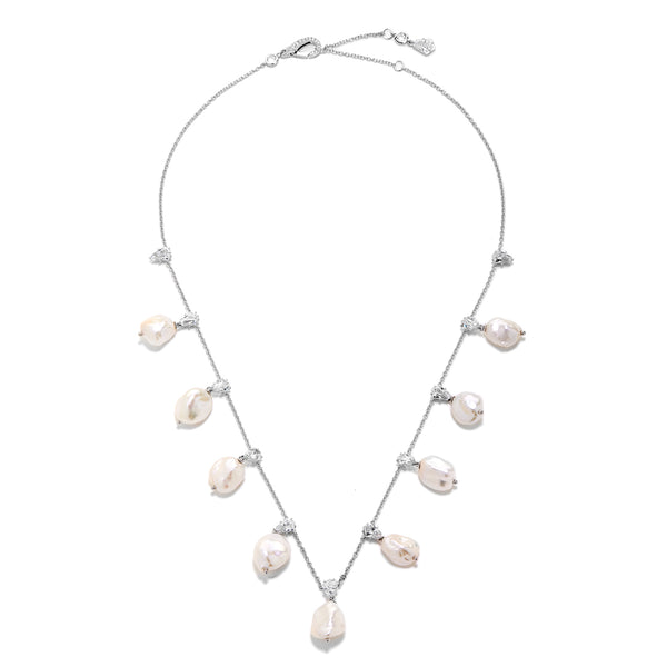 AUBREY BAROQUE PEARL DROP FRONTAL NECKLACE