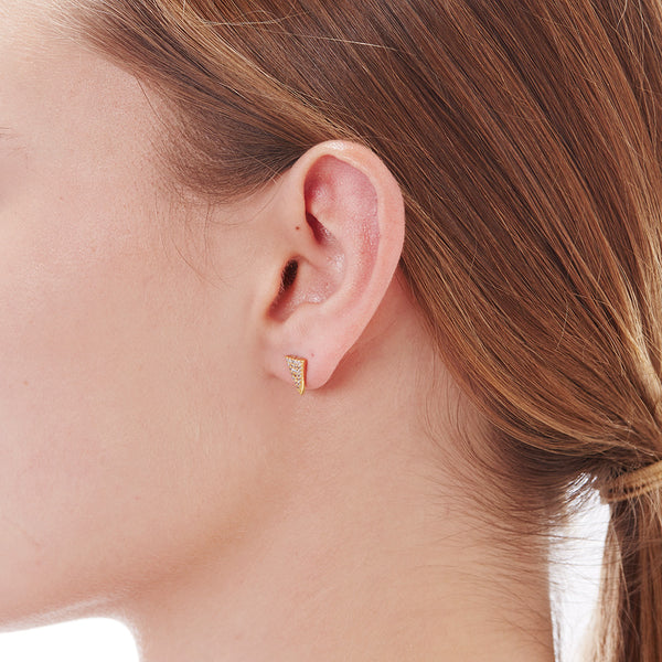 PAVE TRIANGLE STUDS - 3 Colors