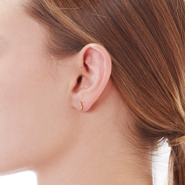PAVE TEARDROP STUDS - 3 Colors
