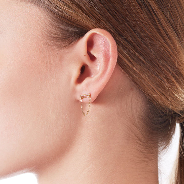 SWING CZ EARRINGS - 3 Colors