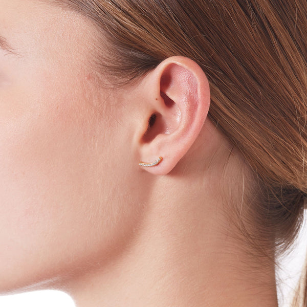 SKINNY EAST WEST CZ EARRINGS - 3 Colors