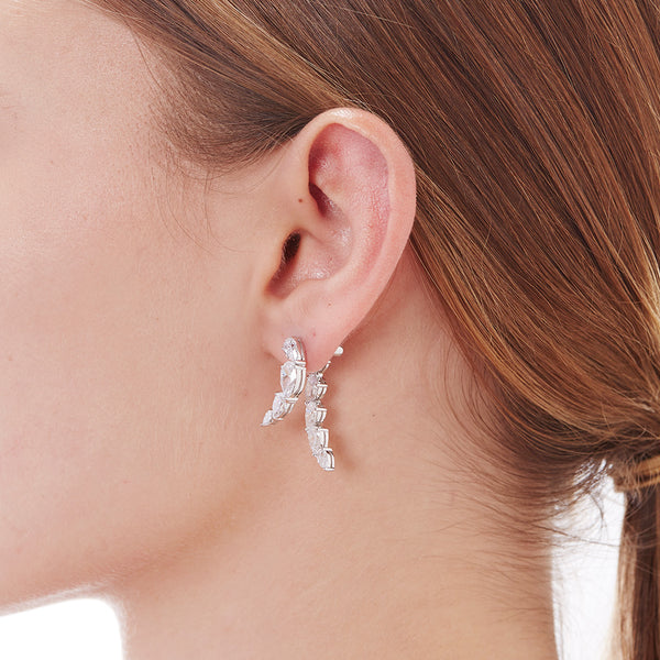 LUMIE CZ FRONT BACK EARRINGS