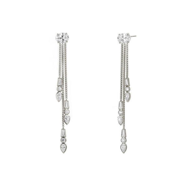 LANA CHAIN FRINGE EARRINGS