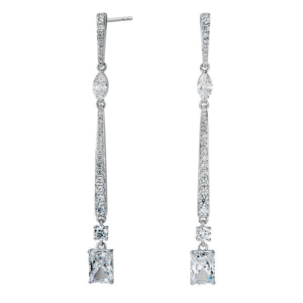 RAE LONG LINEAR DROP EARRINGS