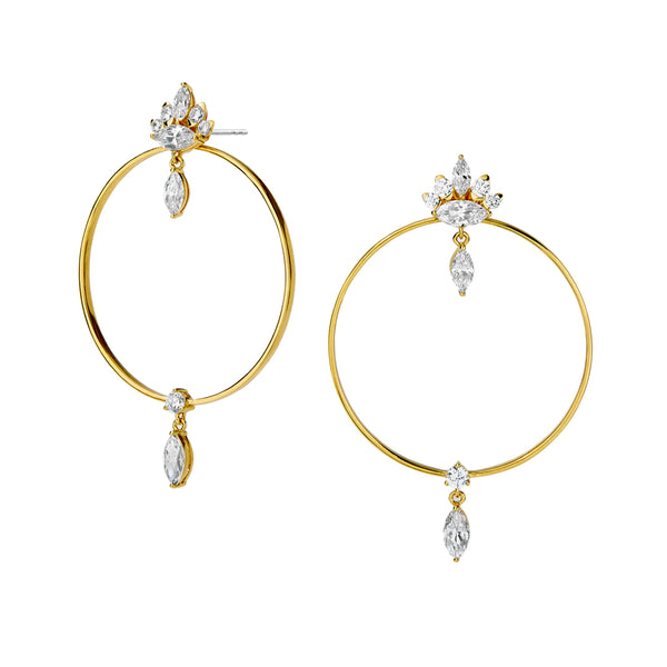 TANGO FRONTAL HOOP EARRINGS