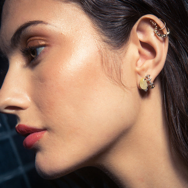 RAVENNA STONE STUD EARRINGS