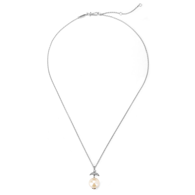 JULIET SILVER FRESHWATER PEARL PENDANT NECKLACE