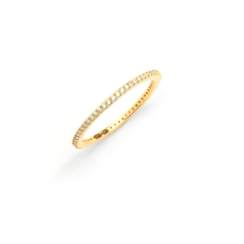 SKINNY PAVE BAND RING - 10 Colors