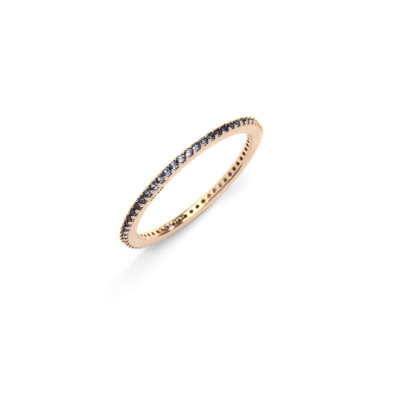 nadri 18k gold plated sterling silver stackable cz eternity ring