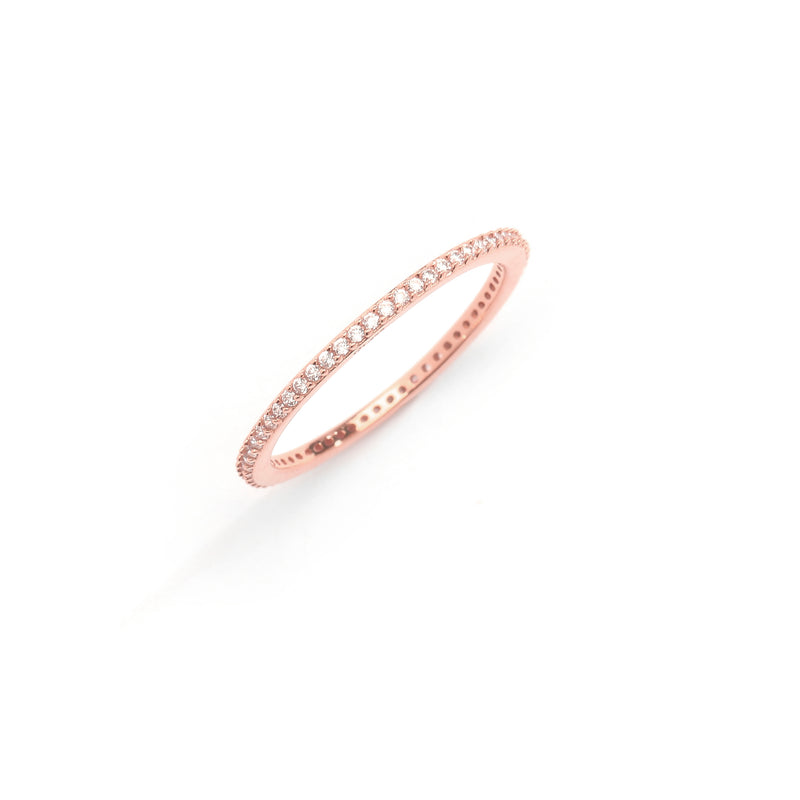 nadri rose gold plated sterling silver stackable cz eternity ring