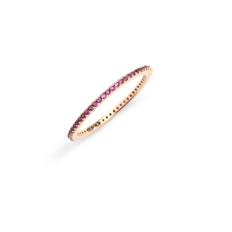 nadri 18k gold plated sterling silver stackable synthetic ruby cz eternity ring
