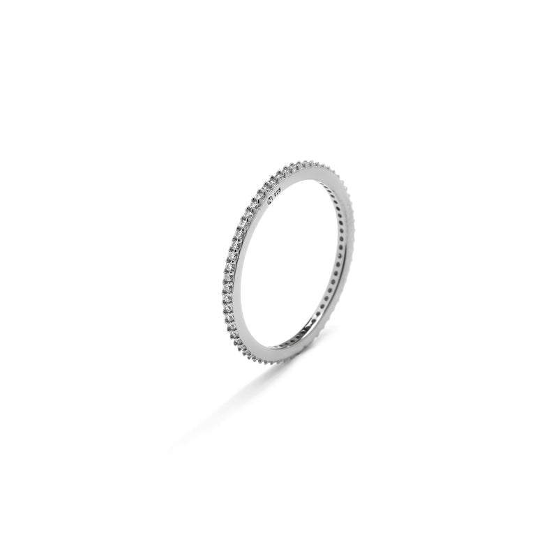 nadri rhodium plated sterling silver stackable cz eternity ring