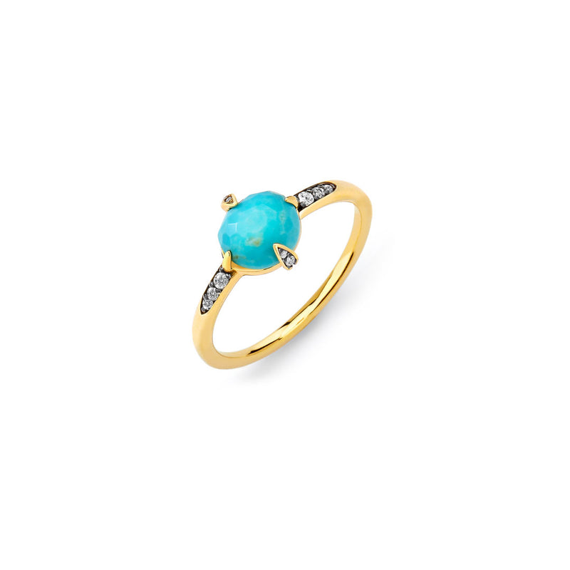 AGEAN TURQUOISE AND CZ RING