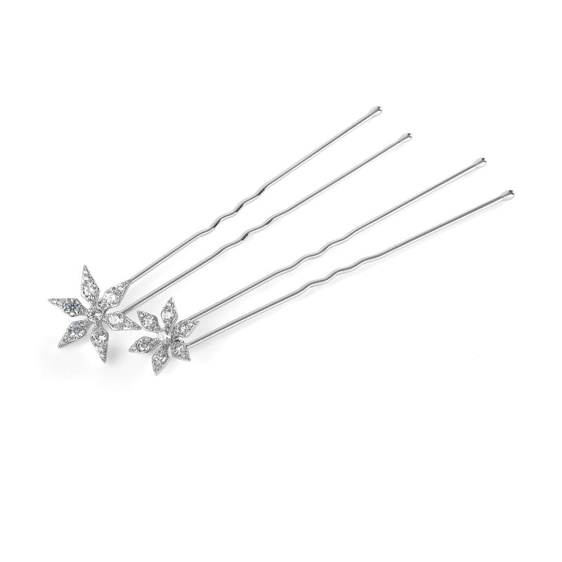 SET OF 2 SNOWFLAKE HAIR PINS