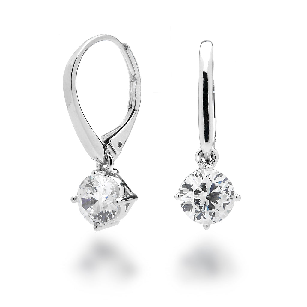 finished in brilliant anklet platinum pure solitaire earrings classic products leverback crislu cut