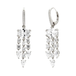 FRINGE CZ EARRINGS