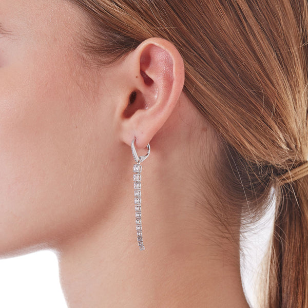 LINEAR GRADUATED CZ EARRINGS