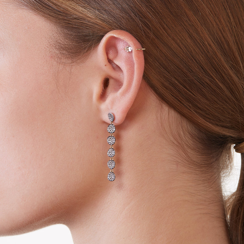 COMO PAVE CZ LINEAR EARRINGS