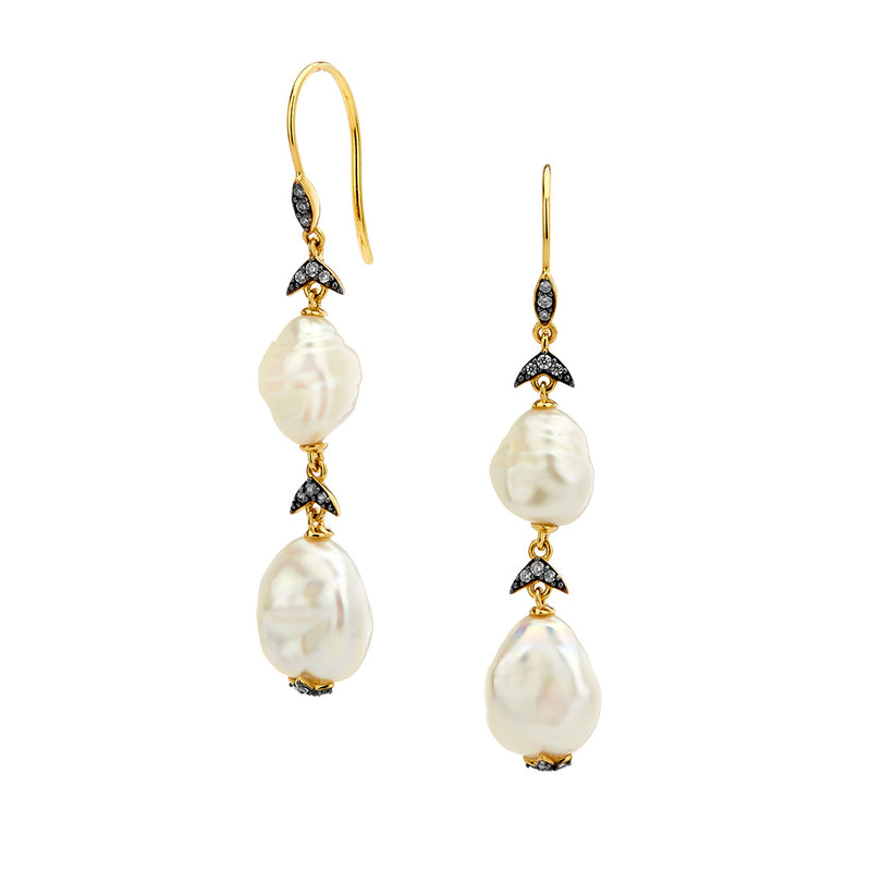 FERRARA PEARL DROP EARRINGS