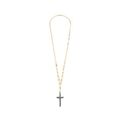LONG DIAMOND PAVE CROSS NECKLACE