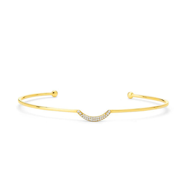 PHASE - DIAMOND PAVE CRESCENT CUFF