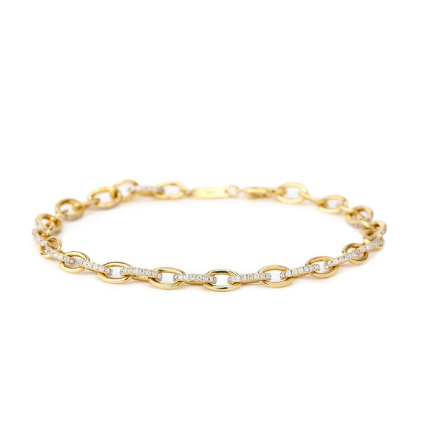ECLIPSE - DIAMOND PAVE CHAIN LINKED BRACELET