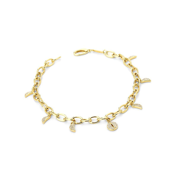 PHASE - DIAMOND PAVE MOON PHASE CHARM BRACELET
