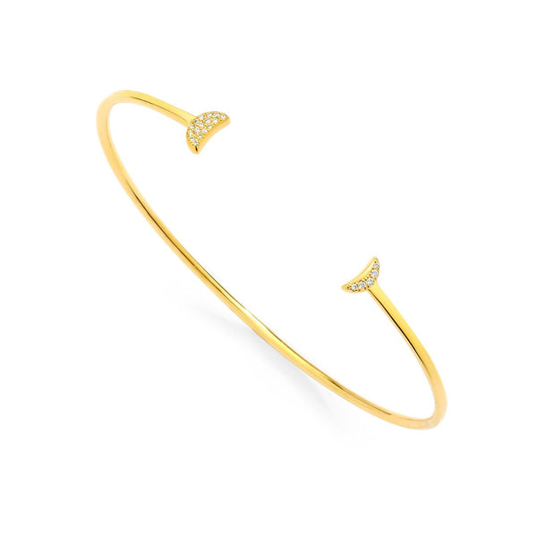 PHASE - DOUBLE PAVE DIAMOND CRESCENT OPEN CUFF