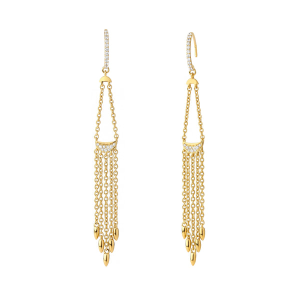 PHASE - DIAMOND FRINGE EARRINGS