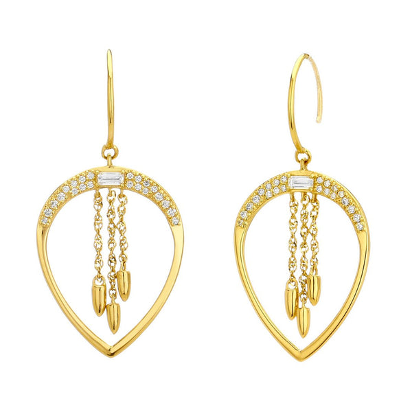 ECLIPSE - DIAMOND PEAR DROP EARRINGS