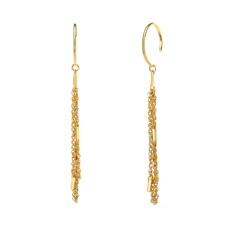 TIDAL - NET DROP EARRINGS