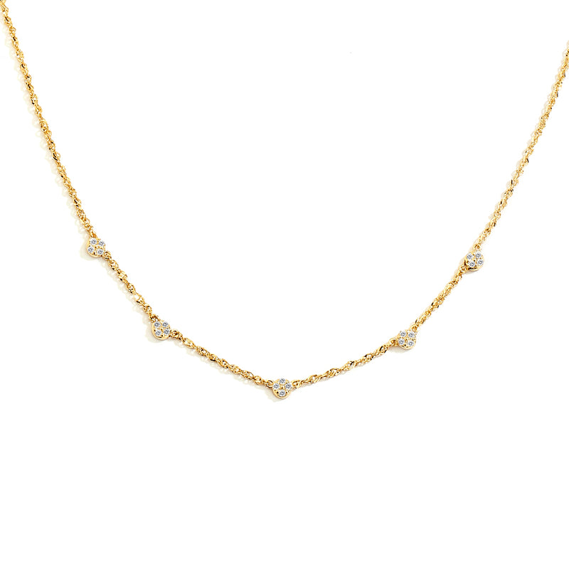 ECLIPSE - FRONTAL DIAMOND DOTTED NECKLACE