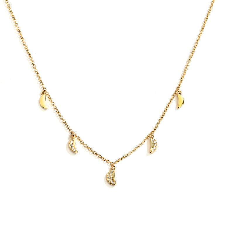 PHASE - FRONTAL DIAMOND CHARM NECKLACE