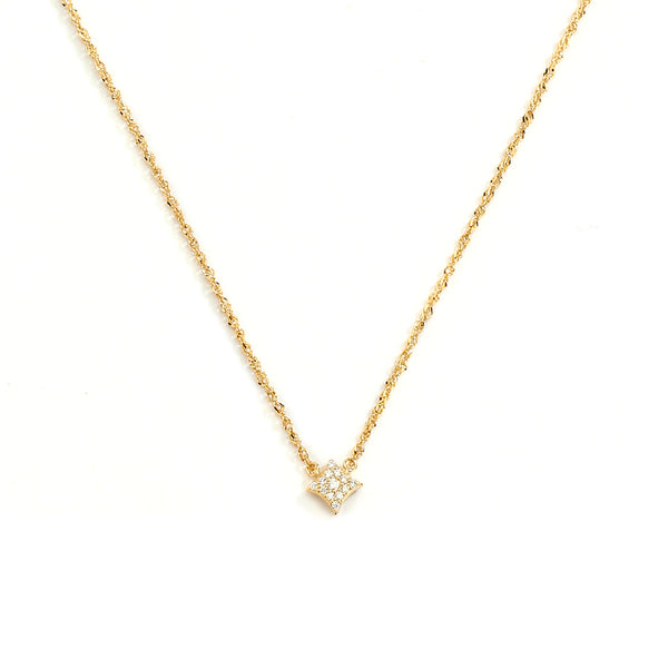 AURORA - DIAMOND PAVE STAR PENDANT NECKLACE