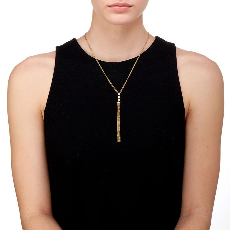 PHASE - DIAMOND FRINGE Y-NECKLACE