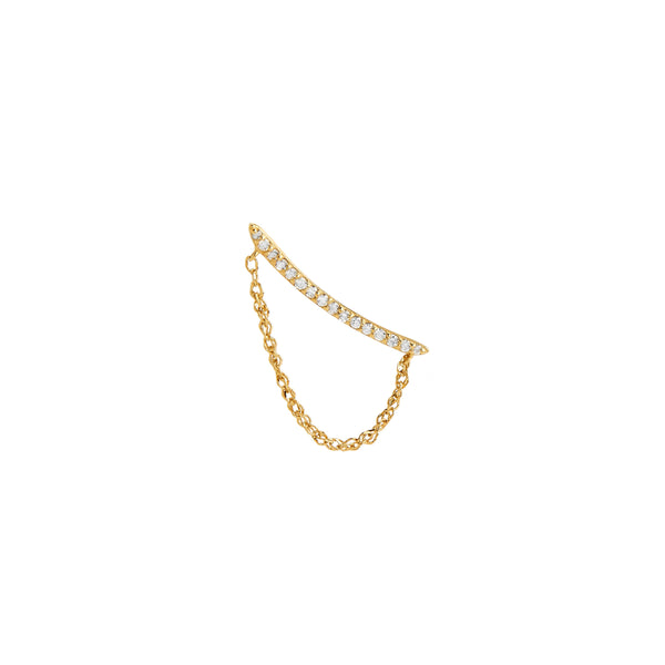 ECLIPSE -  DIAMOND PAVE CLIMBER CHAIN DROP EARRING