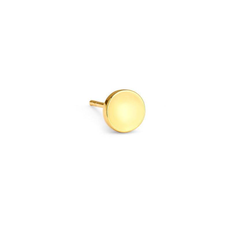 PHASE - GOLD ROUND SINGLE STUD EARRING
