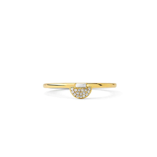 PHASE - DIAMOND PAVE BAGUETTE HALF MOON RING