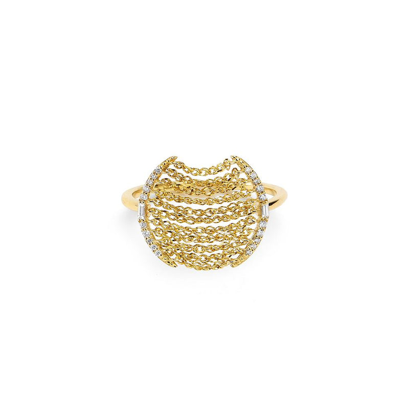ECLIPSE - DIAMOND PAVE MULTI-CHAIN RING