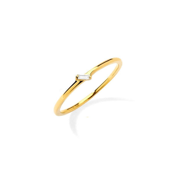 PHASE - SINGLE DIAMOND BAGUETTE RING