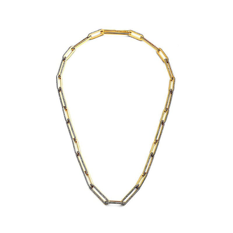 DIAMOND PAVE LINK ALL AROUND NECKLACE